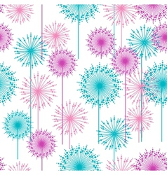 Seamless pattern with abstract dehlia flowers vector
