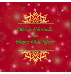 Christmas and new year ornate cards with holiday vector