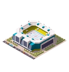 Isometric ice hockey arena vector