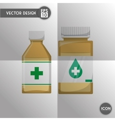Medical and hospital icon vector