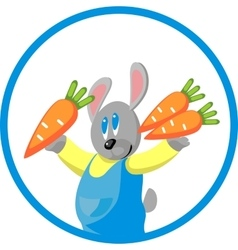 Hare gift carrot in color 10 vector