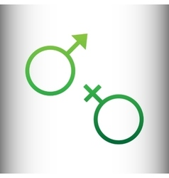 Sex symbol sign vector