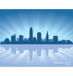 Cleveland Ohio skyline vector image