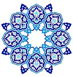Artistic ottoman pattern series seventy nine vector