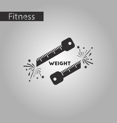 Black and white style icon weight loss logo vector