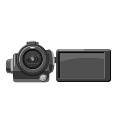 Digital video camera icon gray monochrome style vector