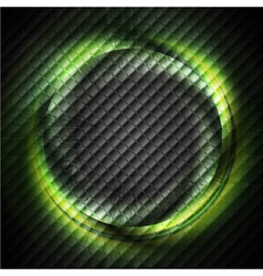 Green glowing ring vector image