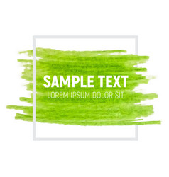 green paint textured art vector image vector image