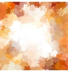 Group autumn orange leaves EPS 10 vector image vector image