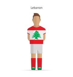 Lebanon football player soccer uniform vector