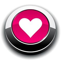 Love 3d round button vector