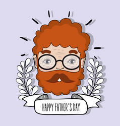 man face to celebrate father day design vector image vector image