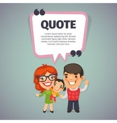 Quote with Happy Family vector image vector image