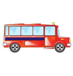 Red bus vector image