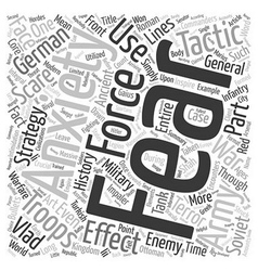 Scare tactics and the art of war text background vector image vector image