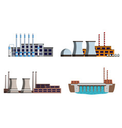 set of power station vector image vector image