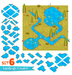 set of water in nature vector image