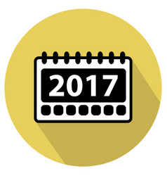 Simple 2017 calendar icon vector