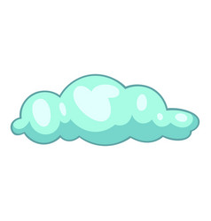 Sleet cloud icon cartoon style vector