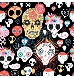 The pattern of skulls vector image