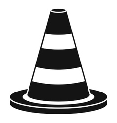 Traffic cone icon simple style vector