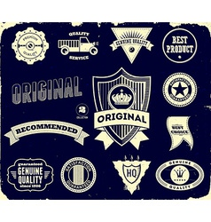 Vintage labels on the black Collection 2 vector image vector image