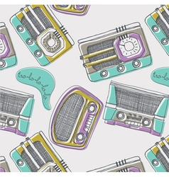 vintage music wallpaper vector image