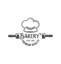 vintage retro bakery logo badge or label vector image vector image