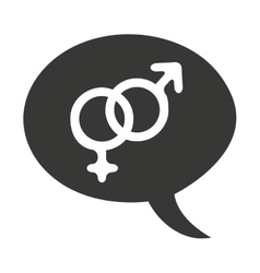 Male and female symbol isolated icon vector