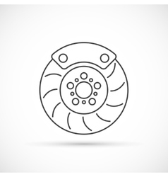 Brake disc outline icon vector