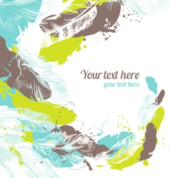Abstract feather background vector