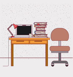 color background with sparkles work place office vector image