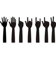 Human different hands gestures signals and signs vector image