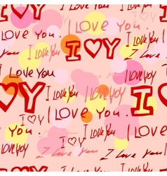 Words i love you on pink background vector