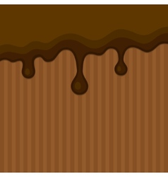 Milk melted chocolate streams background vector
