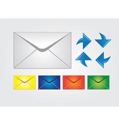Envelopes multiple colors web icons vector image