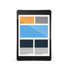 Tablet with responsive grid layout vector