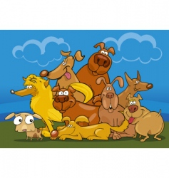 Cartoon dogs vector