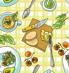 Seamless pattern vegetarian vector