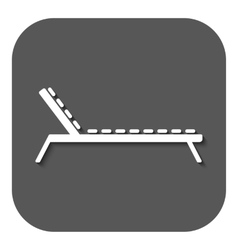 The lounger icon sunbed symbol flat vector