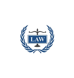 Law emblem abstract logo vector