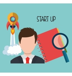 Start up company and business vector image