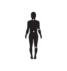 Flat icon in black and white style body vector