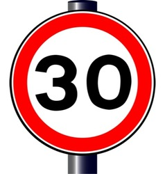 30 mph sign vector