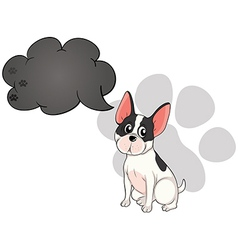 A cute dog with an empty callout vector image vector image
