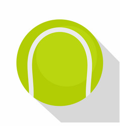 Ball for playing tennis icon flat style vector