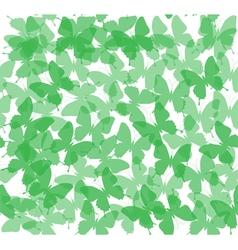 butterflies green vector image vector image