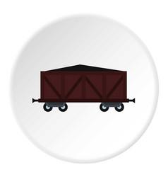 cargo wagon icon circle vector image