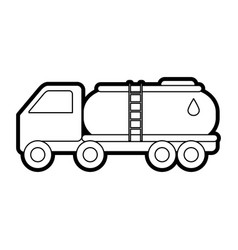 Cistern truck oil industry related icon image vector