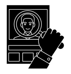 cv - human resources - personal icon vec vector image